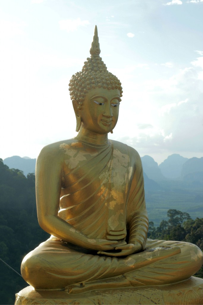 One of the Buddha statue's on top