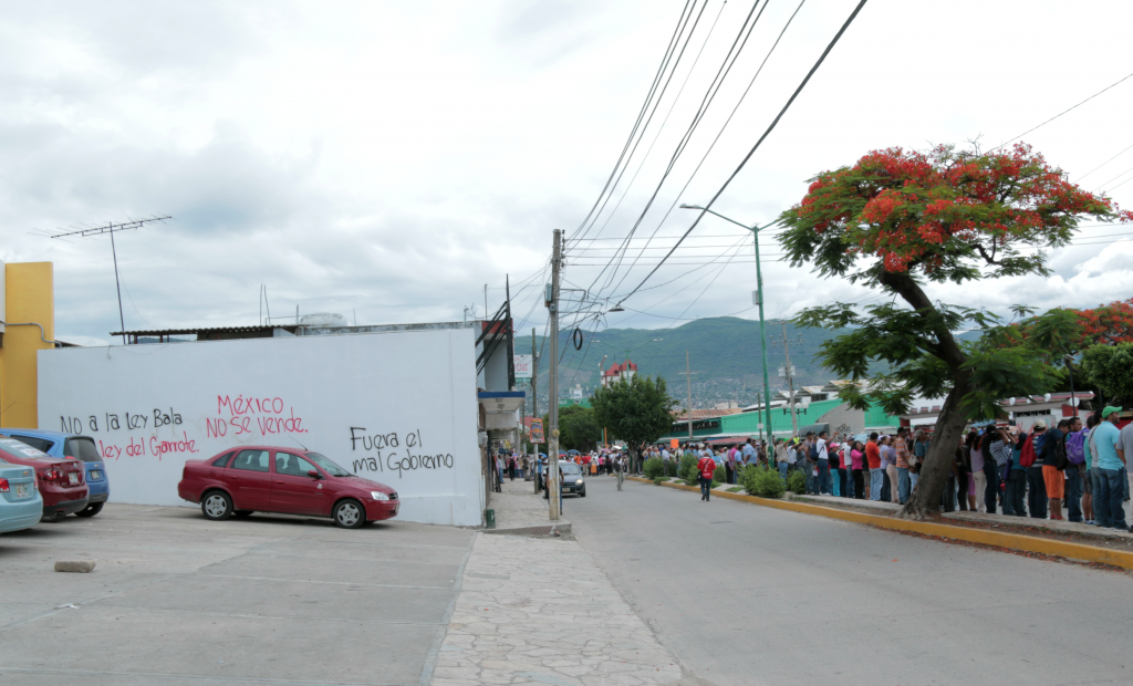 Protest in Tuxtla of another day